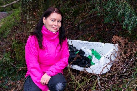 Cathrine Fransiska Hagesæter håpar fleire vil vere med å gjere ein innsats for å halde naturen rein og fin.