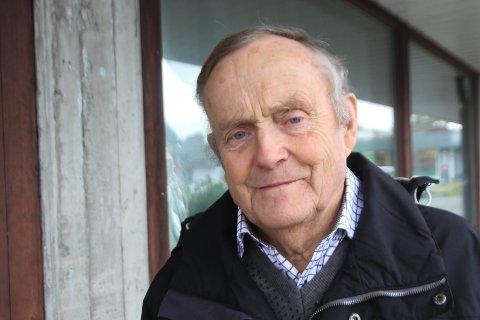 NØGD: Sigurd Knudsen, leiar i Eldrerådet i Meland, er glad for at dei ledige romma nå skal nyttast til pasientar.