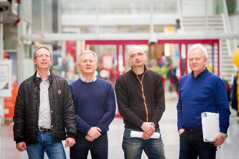Knarvik senter-konflikten. Nils Frøseth, Odd Haaland, Jimmy Pasali, Helge Pedersen.