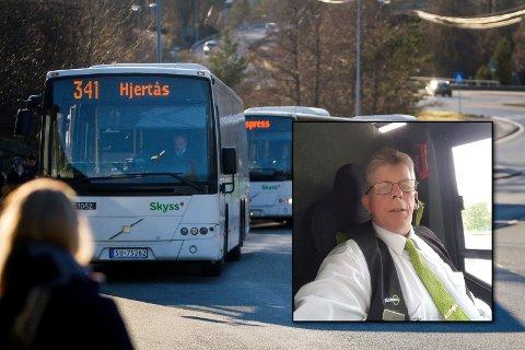 Førarmiljø i bussane og kva som er fornuftige avgangar får ikkje vi vere med å forme, sjølv om det er vi som kjenner den biten best, seier tillitsvald i Norsk transportarbeidarforeining og tilsett i Nobina, Jarle Skjelvik.