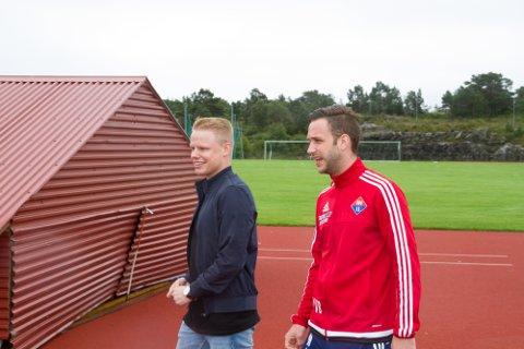 Håkon Thunes (t.v.) og Mario-Alexander Bertheussen skal gjera opp om toppscorartittelen i haust.