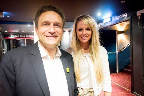Arild Hermstad og Karina Garnes Reigstad på Miljøpartiet De Grønnes valvake i Bergen.