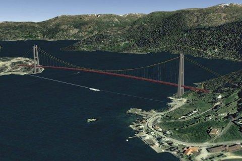 VIL HA BRU:  Gulen og Masfjorden Næringsråd vil ha ein skikkeleg kystveg gjennom Gulen, med bru over Masfjorden, og veg vidare nordover til Rutledal.