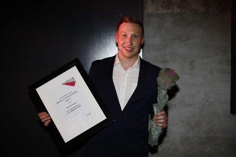 Redaktør og dagleg leiar i Avisa Nordhordland, Trond Roger Nydal, etter å ha motteke heiderleg omtale i eigarkonsernet Amedia.