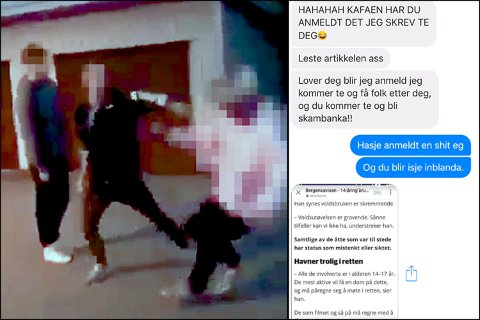 Etter at BA og avisa Nordhordland skreiv om 14-åringen som vart banka opp på Frekhaug har guten mottatt grove truslar