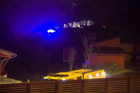 Pipebrann på Flatøysøndag kveld.