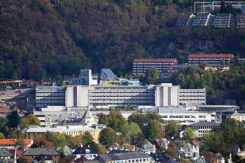 Haukeland sjukehus frå lufta.