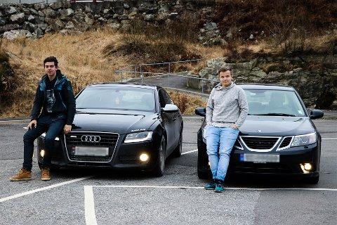 Det å driva med bil er også ein sosial hobby, fortel Sander og Mathias. Ofte kjenner ein gjerne folk frå før av som driv med det, så ein kan drive med bilmekking og køyring saman.
