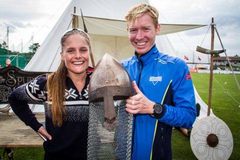Lindåsingen Halfdan-Emil Færø og Emma Dyrhovden frå Masfjorden gjekk til topps i «Fjordviking»-duellen etter ekstremløp, 10 km og halvmaraton på tre dagar.