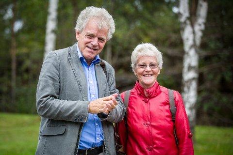 Rune Alver og Inger Johanne Ektvedt er klar for si første CD-innspeling saman. I dag har dei konsert i lag i Bergen Pianoforretning sine lokale i Komediebakken i Bergen. Arkivfoto: Morten Sæle