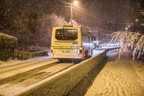 I januar 2017 vart det kaos då snøen kom i januar. No er det fare for at det same skjer igjen, då det er meldt snø denne veka.