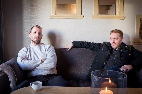 Frank Alexander Bogen og Morgan Eriksen er blant dei som har jobba lengst hjå Goman Rognaldsen. No er dei permiterte på ubestemt tid.