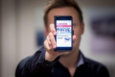 På mobiltelefonen kan du no halde deg oppdatert på lokale nyheiter - heile døgnet, heile veka.