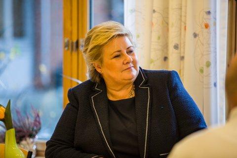Statsminister Erna Solberg kjem til Nordhordland i ettermiddag. Her har ho heile tre postar på programmet.