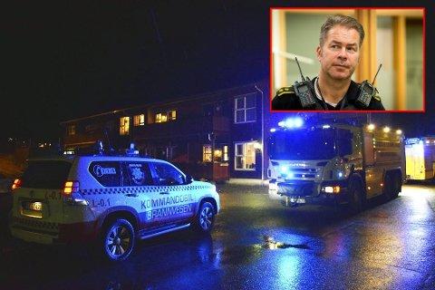 Laurdag brann det i eit bufellesskap i Knarvik. Politioverbetjent, Kurt Inge Hordvik, fortel at dei er redd for at det skal skje igjen.