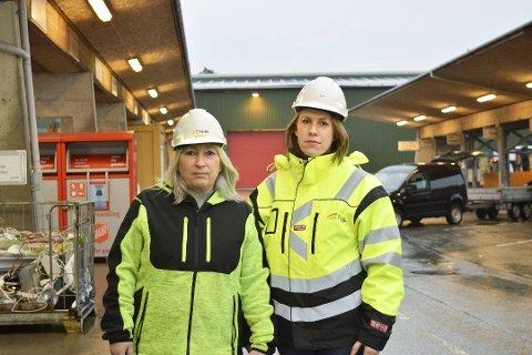 Ebba Fjeldstad (t.v) og Irene Bratteng Fossheim ved NGIR.