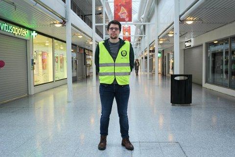STREIKAR FRAMLEIS: Ivar Brakstad har streika på Knarvik senter i over ni veker.