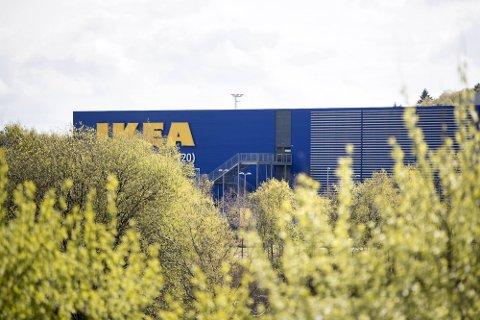 Heile Ikea vart evaukert fredag ettermiddag. Arkivfoto: Skjalg Ekeland / BA