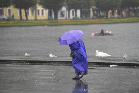 På lokalt utsette stader kan det onsdag mane opp til full storm.
