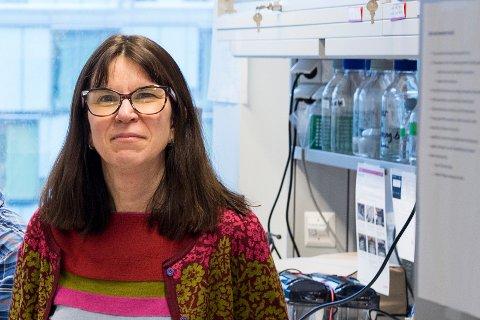 Professor Rebecca Cox lar seg imponere av jobben som blir gjort for å få ned smitten.