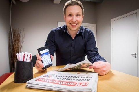 Med abonnement på Avisa Nordhordland tilbyr redaktør Trond Roger Nydal deg no gratis tilgang til over 70 andre lokalaviser i Amedia ut april. Arkivfoto