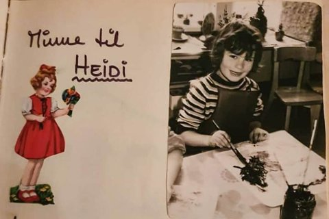 Bilde av Heidi frå minneboka som Magnhild Brekke kjøpte på loppemarknad.