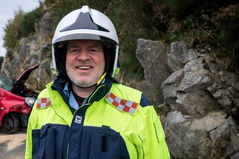 JONSOK: Nils Medaas i Nordhordland brann og redning er imponert etter årets jonsokfeiring.