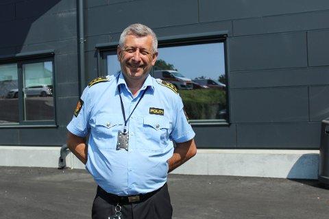 NORDHORDLAND LENSMANNSDISTRIKT: Lensmann Kjell Idar Vangberg håpar at politiet kan yte betre med dei fire nye stillingane.