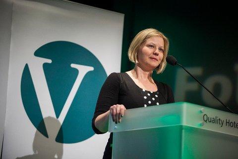 Guri Melby under Venstre sitt landsmøte i 2013.