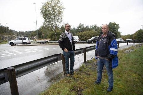 Christian Rolland og Hans Aakre vil ha slutt på køkøyring og farlege situasjonar i Steinestøkrysset.