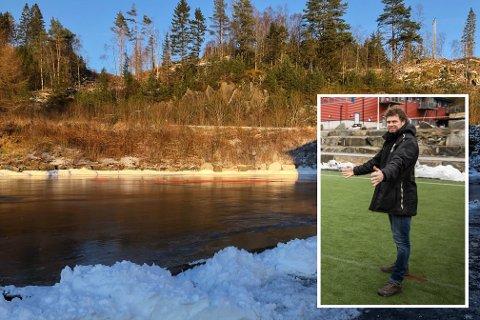 SKØYTEIS: Trond Egil Soltvedt i Kvernbit IL synes det er fint å kunne glede folk med skøyteis i koronatider.
