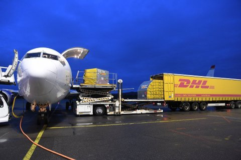Flyet fra Bluebird landa på Flesland 29. desember, lasta med koronavaksiner til vestlandet.