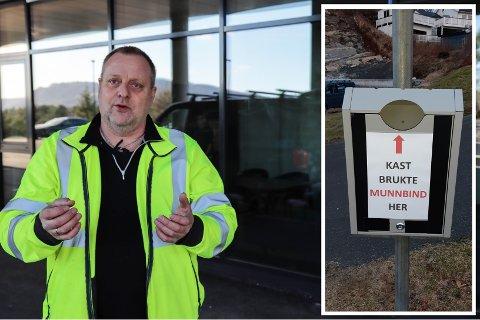 Tord Vikebø laga si eiga innretning for å hindre forsøpling på Vikebø på Rossland.