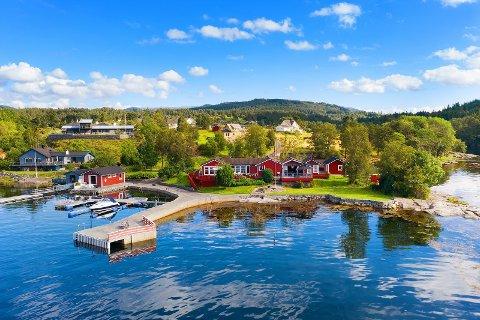 Slik ser eigedommen i Eikangervåg ut.