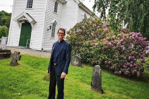 FLYTTAR: Geir Øy kunne tidlegare i år melde at han gir seg som sokneprest i Knarvik sokn for å jobbe som sjømannsprest i New York.