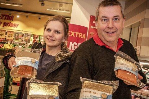 Lokal mat: Saltenlaks er en av dem som reiser til Berlin for å fremme Salten. Her representert ved Salgskonsulent Yvonne Løvgavlen og Kjell-Cato Johansen-Mærvoll.