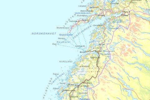 kart nordland Avisa Nordland   Dette kartet gjør nordlandskysten tryggere