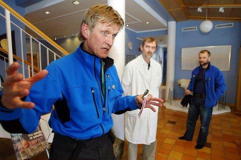 SNakket om kampen: Mads Gilbert deltok på konferansen i Bodø. Han er ikke fornøyd med sykehusplanen til statsråden.
