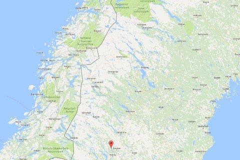 Bjørnangrepet skjedde på grensen mellom Västerbotten og Jämtland.