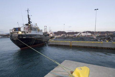 Ny kai: Toppdekket på kaia klargjøres med nødvendig infrastruktur. 1. februar           skal Hurtigruten fortøye her. Foto: Per Torbjørn Jystad