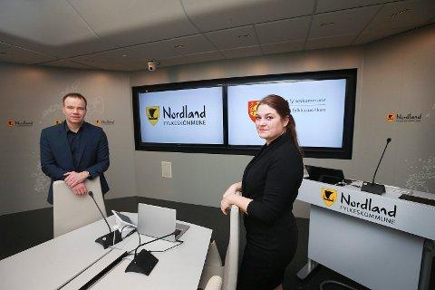 Tomas Norvoll, fylkesrådsleder Nordland og Cecilie Myrseth, fylkesrådsleder Troms