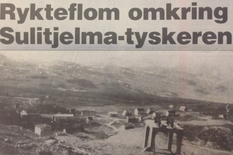 Politiet har ennå ikke fått klarhet i hva tyskeren gjorde i Sulitjelma-fjellene eller hvem han er, heter det i bildeteksten fra 1986.