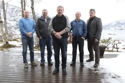 Sammen: Ordførerne Tor Asgeir Johansen i Tysfjord, Lars Evjenth i Sørfold, Jørn Stene i Fauske, Rune Berg i Saltdal og Jan Sannes i Hamarøy. FOTO: IDA KRISTIN DØLMO