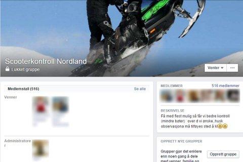 Slik ser det ut når en klikker seg inn på gruppa Scooterkontroll Nordland på Facebook hvis du ikke er medlem. Skjermdump fra Facebook