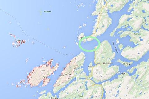 Den savnede ble sist sett på jobb på ferga (rgrønn ring). Han ble funnet i Nord-Trøndelagskommunen Leka.