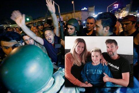 Ferieturen ble avlyst for Bodø-familien som etter planen skulle reise til Tyrkia, søndag. Tone Annie Olsen, Lasse Aleksander Paulsen og Steinar Paulsen.