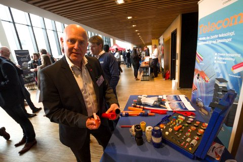 Administrerende direktør Hans Larsen i Signal Bredbånd AS. Telestormen 2016.