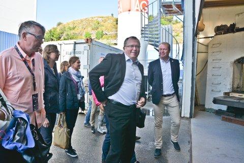 -  Kontrakten med Rapp Bomek viser at både norsk og nordnorsk industri er konkurransedyktig i et globalt marked, sa Eldar Sætre som ble vist rundt på Rapp Bomek.