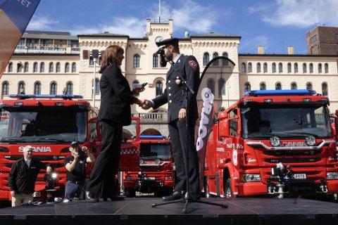 Salten Brann IKS fikk ny brannbil torsdag.