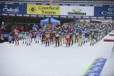 Skiglede: Flere tusen nordmenn står på startstreken i det originale Marcialonga-rennet hvert eneste år.